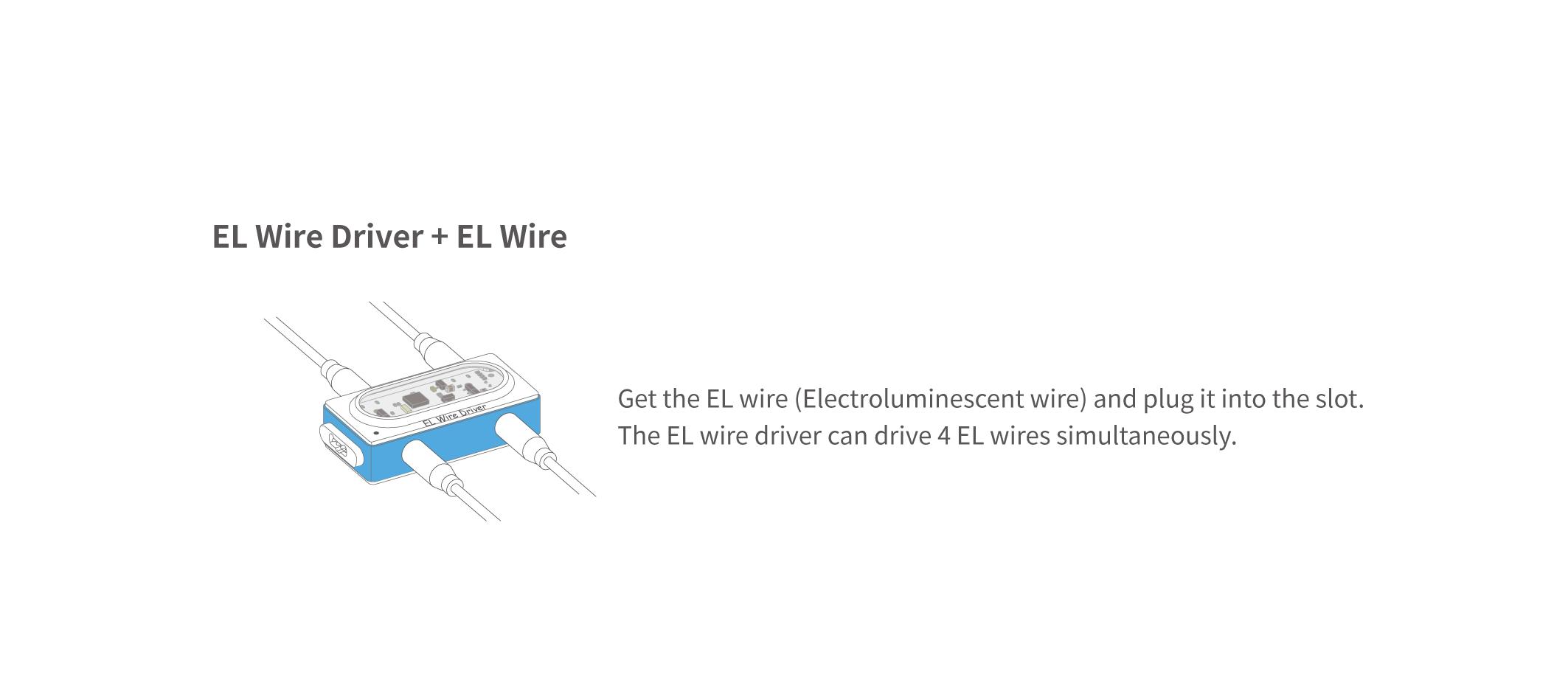EL Wire Driver Block